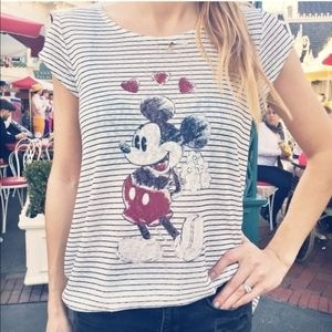 LC x Disney Rock the Dots Cap Sleeve Graphic Tee